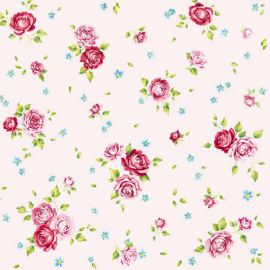 Serviettes papier rosalie rose - Lot de 20