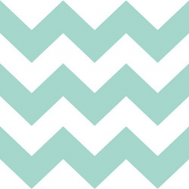Serviettes papier large chevrons aqua - Lot de 20