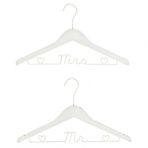 Cintres mariage Mr & Mrs - Lot de 2