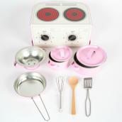 Valisette cuisinière et dinette rose