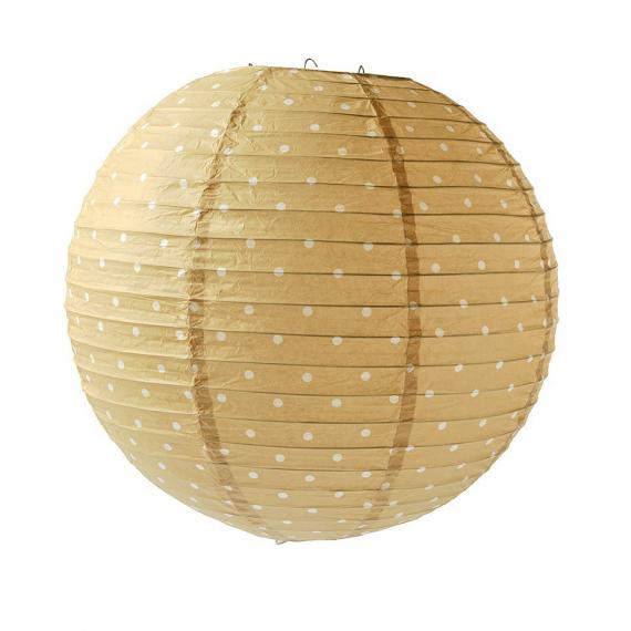 Lanterne sable pois blancs