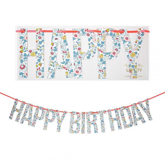 Guirlande Happy Birthday Liberty