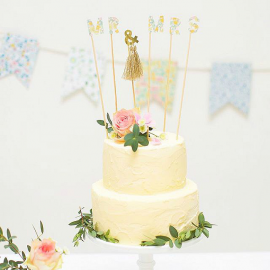 Cake topper Mr & Mrs Poppy liberty