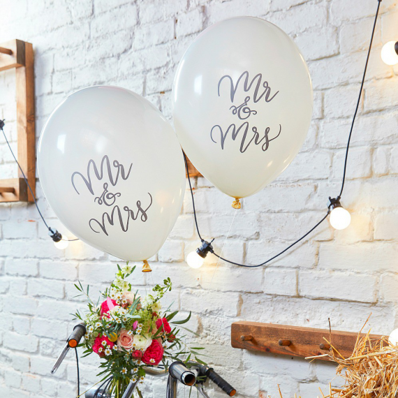 Ballons calligraphie Mr & Mrs