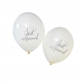Ballons Calligraphie Just married