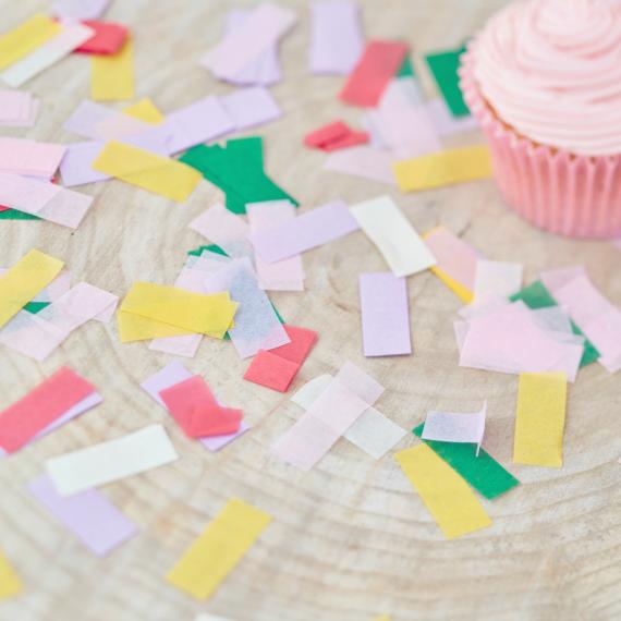 Confettis rectangles colors
