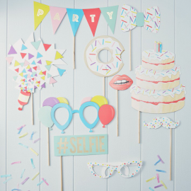 Photobooth party trendy - Lot de 10