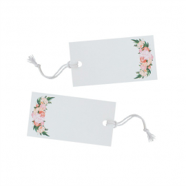 Etiquettes marque-place floral bohème