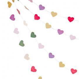 Guirlande de fanions coeurs colors