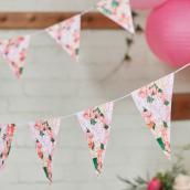 Guirlande fanions floral bohème