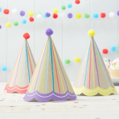 Chapeaux de fête kraft color - Lot de 6