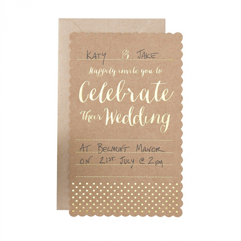 papeterie mariage cartons invitations mariage kraft et or. Black Bedroom Furniture Sets. Home Design Ideas