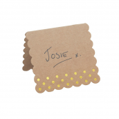 Marque-places chevalets kraft et or - Lot de 10