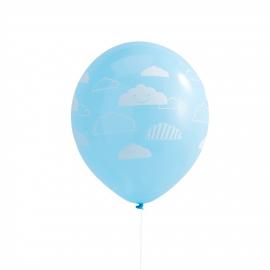Ballons nuages ciel - Lot de 10