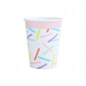 Gobelets confettis rectangles colors