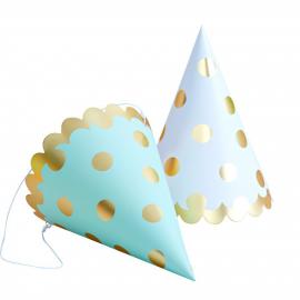 Chapeaux de fête pois or