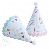 Chapeaux pointus confettis mix & match - Lot 6