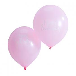 Ballons roses calligraphie happy birthday - Lot 10