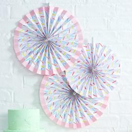 Rosaces papier confettis rectangles