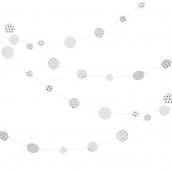 Guirlande confettis blanche pois or