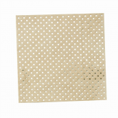 Serviettes papier kraft pois or