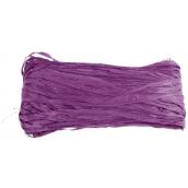 raphia naturel violet - Pelote 50g.