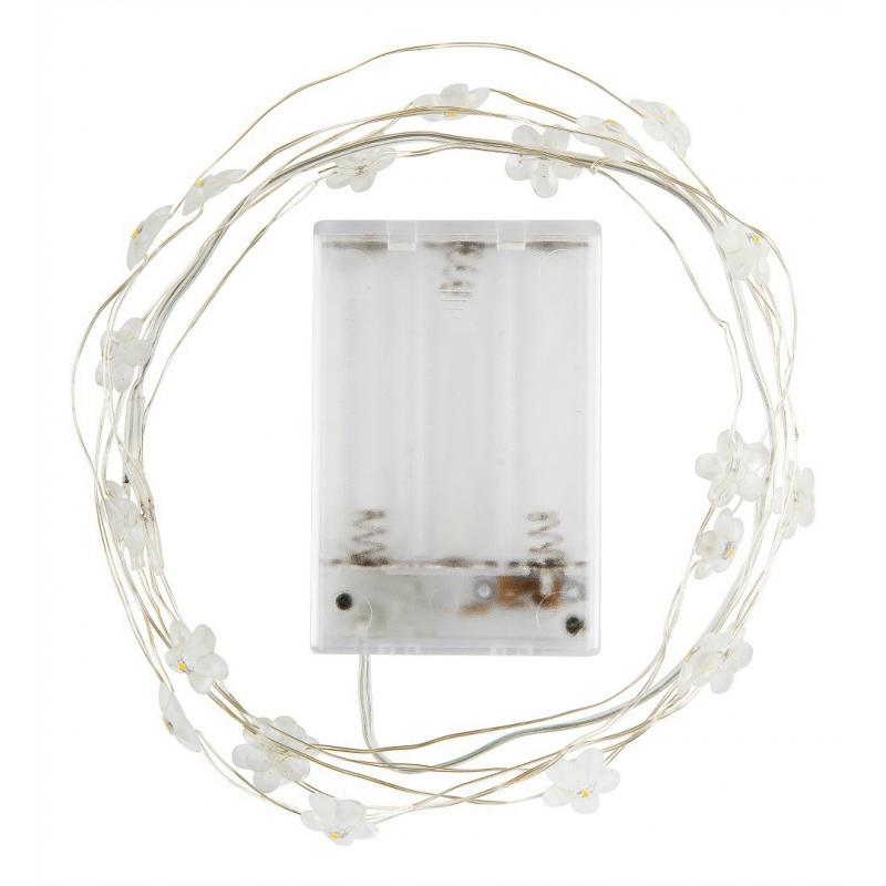 decoration de table guirlande de table led fleurettes. Black Bedroom Furniture Sets. Home Design Ideas