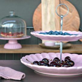 Serviteur céramique rose vintage