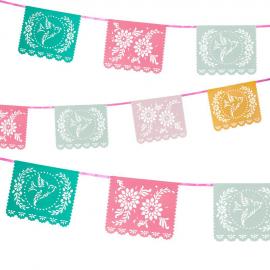 Guirlande fanions color fiesta