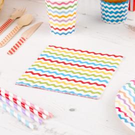 Serviettes papier croquet multi