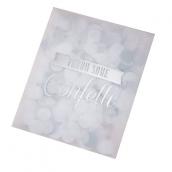 Sachets confettis glam argent et blanc - Lot 10