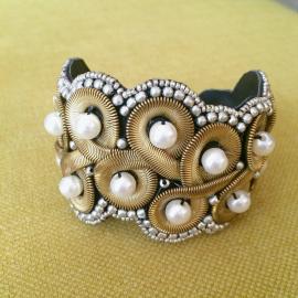 Bracelet manchette perles baroque