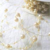 Bobine Guirlande de perles ivoire - 5 mètres