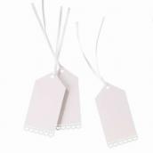 Etiquettes marque-place dentelle ruban satin - Lot de 10