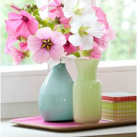 Vase verre claudine opaline green