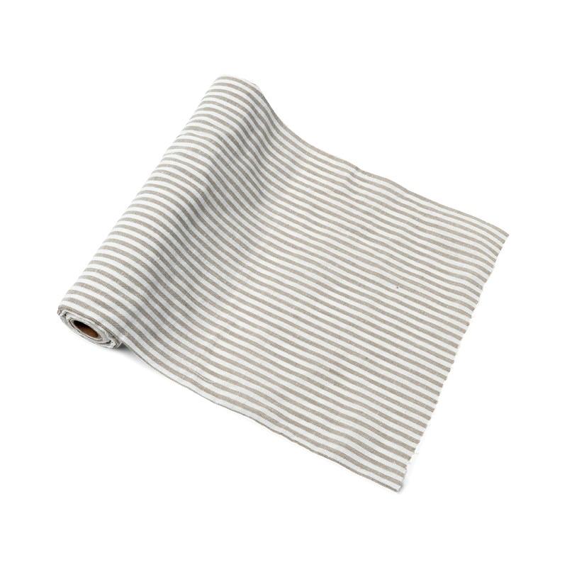 deco mariage vintage chemin de table lin ray blanc. Black Bedroom Furniture Sets. Home Design Ideas