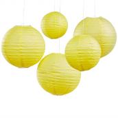 Lanternes papier jaune summer