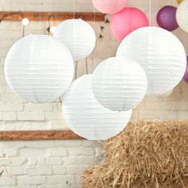 Lanternes papier blanc pur