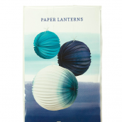 Lampions papier summer blue