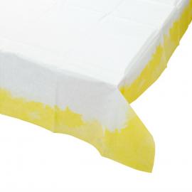 Nappe papier tie and dye jaune