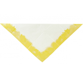 Nappe papier tie and dye jaune