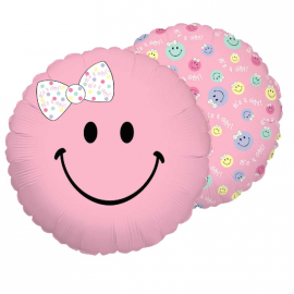 Ballon smiley fille