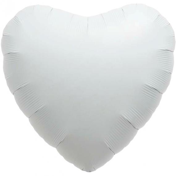 Ballon coeur blanc