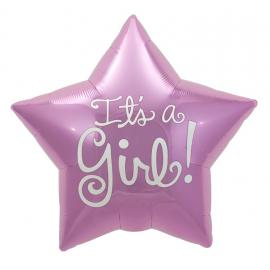 Ballon étoile it's a girl