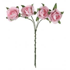 Bouquets petites roses papier