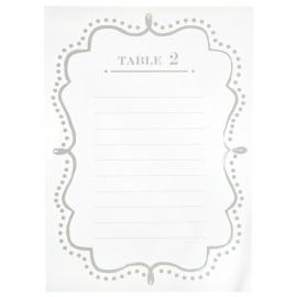 Plans de table rétro blanc