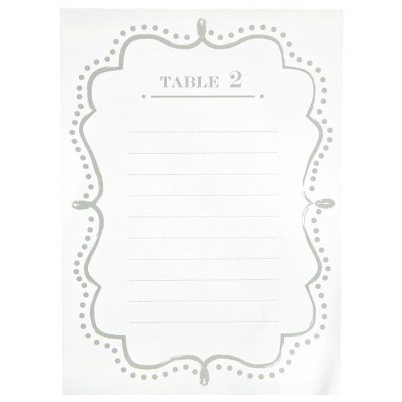 Plans de table rétro blanc