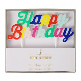 Bougie happy birthday multicolor