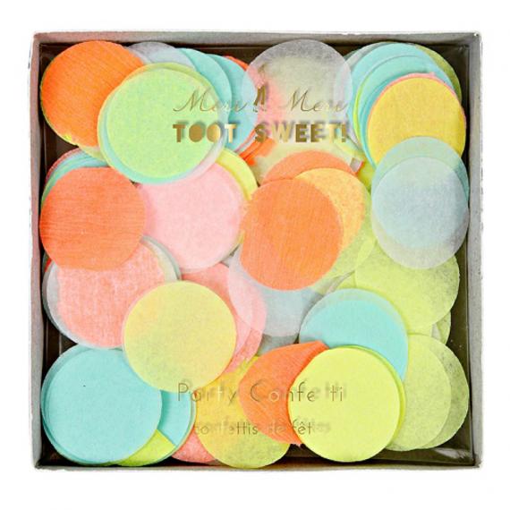 Confettis mix couleurs néon