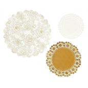 Assortiment napperons dentelle éclat gold